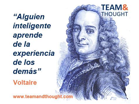 Alguien inteligente aprende de la experiencia de los demás, Voltaire