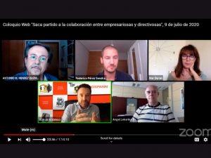 coloquio web Saca partido a la colaboración entre empresarios/as y directivos/as