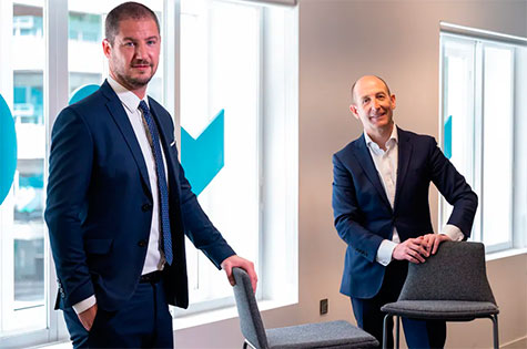 Daniel Carreño, CEO de Grupo Lantero, y Federico Pérez, Team & Thought
